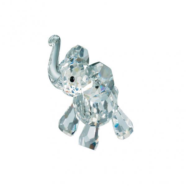 Preciosa Miniature Crystal Elephant Calf Figurine