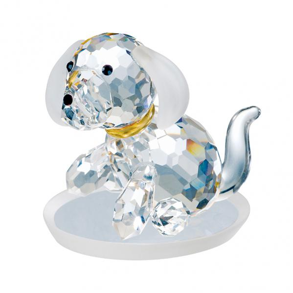 Preciosa Crystal Dog Figurine with Floppy Ears