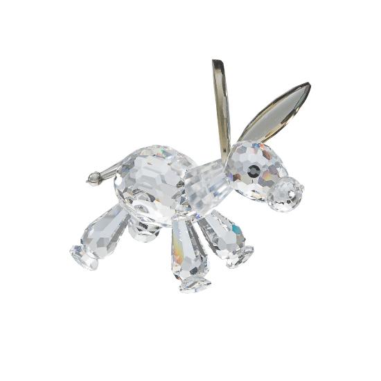 Preciosa Crystal Baby Donkey Figurine with Big Ears