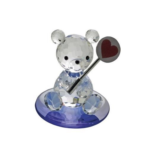 Preciosa Crystal Bear with lollipop on Blue Base