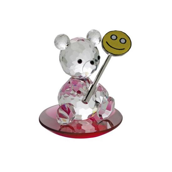 Preciosa Crystal Bear with lollipop on Red Base