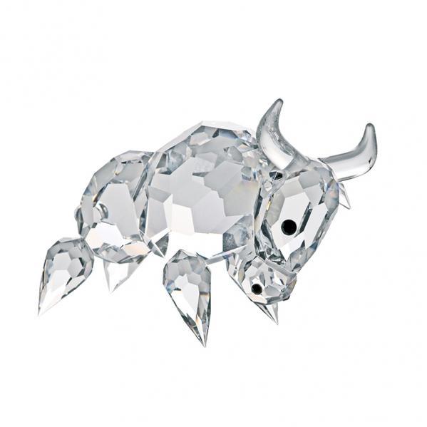 Preciosa Crystal Buffalo Figurine, Symbol of Faithfulness