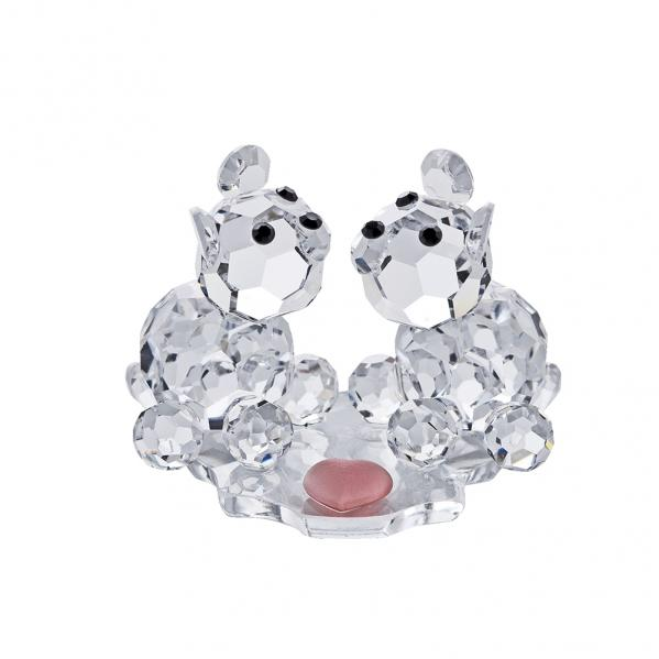 Preciosa Crystal Sweet Twosome Bears in Love Figurine