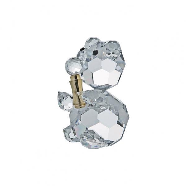 Preciosa Crystal Bear Figurine with Microphone
