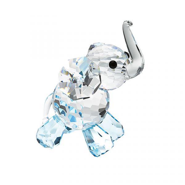 Preciosa Blue Crystal Lucky Elephant Figurine