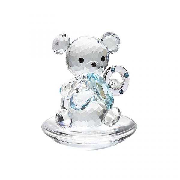 Preciosa Crystal Baby Bear holding Blue Pacifier