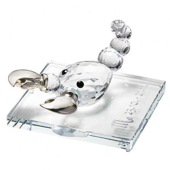 Preciosa Crystal Zodiac Scorpio Figurine