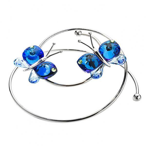 Preciosa Crystal Flying Bermuda Blue Butterflies