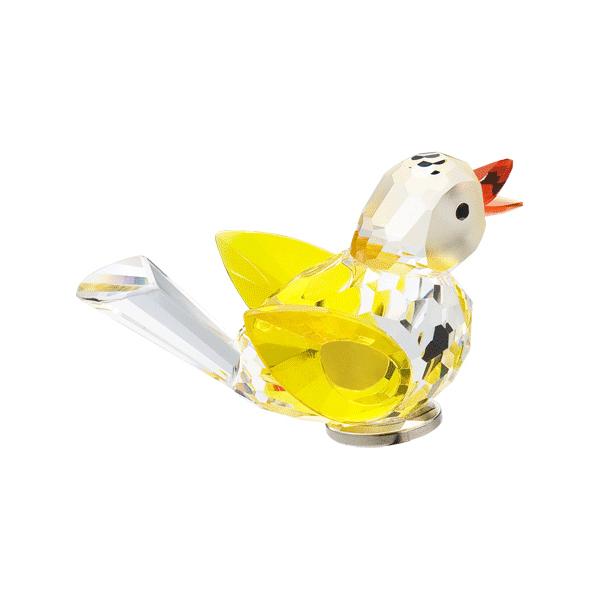 Preciosa Crystal Yellow Bird Figurine with Magnet