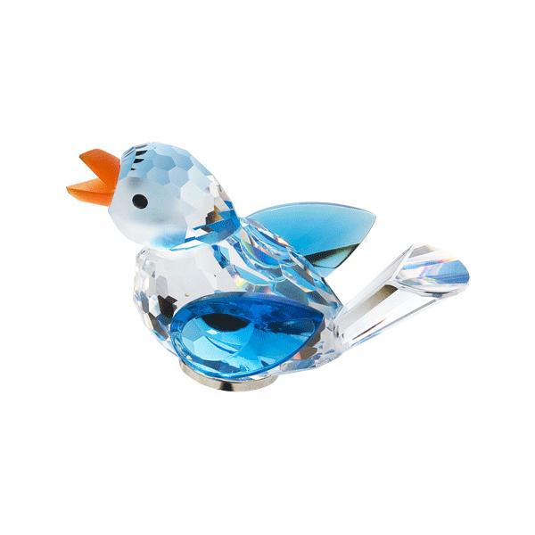 Preciosa Crystal Blue Bird Figurine with Magnet