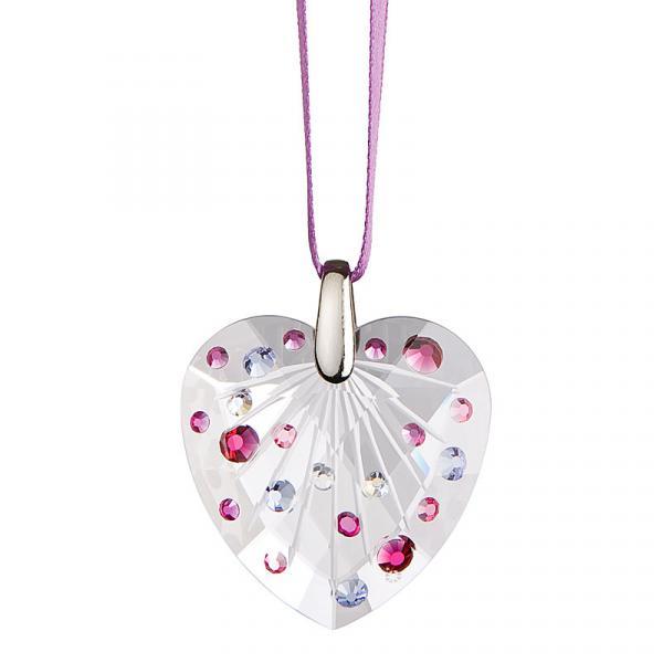 Preciosa Crystal Violet Heart Ornament