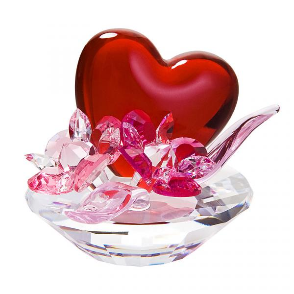 Preciosa Crystal Valentine Heart with Flowers