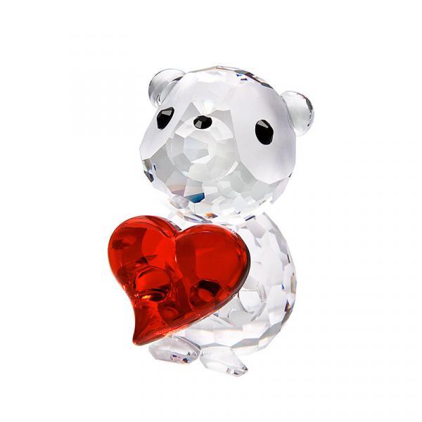 Preciosa Crystal Valentine Bear Figurine