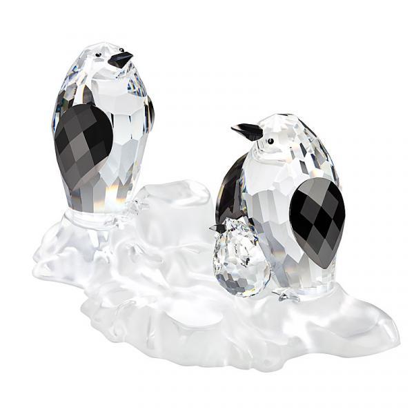 Preciosa Crystal Penguin Family Figurine, 2012 Limited Edition