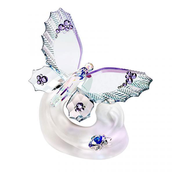 Preciosa Crystal Lavender Butterfly Figurine