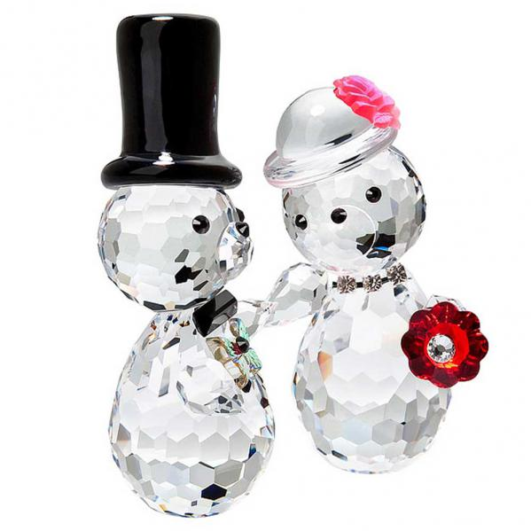 Preciosa Crystal Bride and Groom Bears Figurine