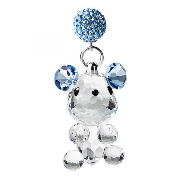 Preciosa Crystal Dangling Mouse Figurine with Magnet