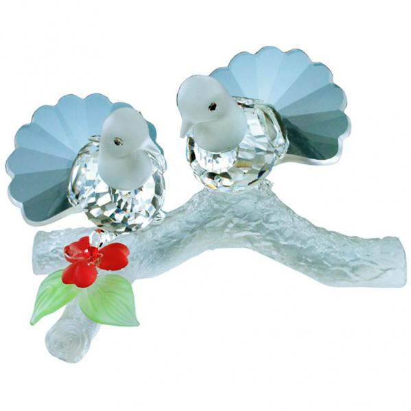 Preciosa Crystal Doves in Love Figurine