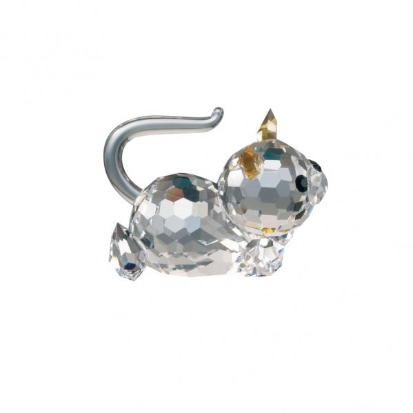 Preciosa Crystal Kitten with Topaz Ears with adhesive bottom