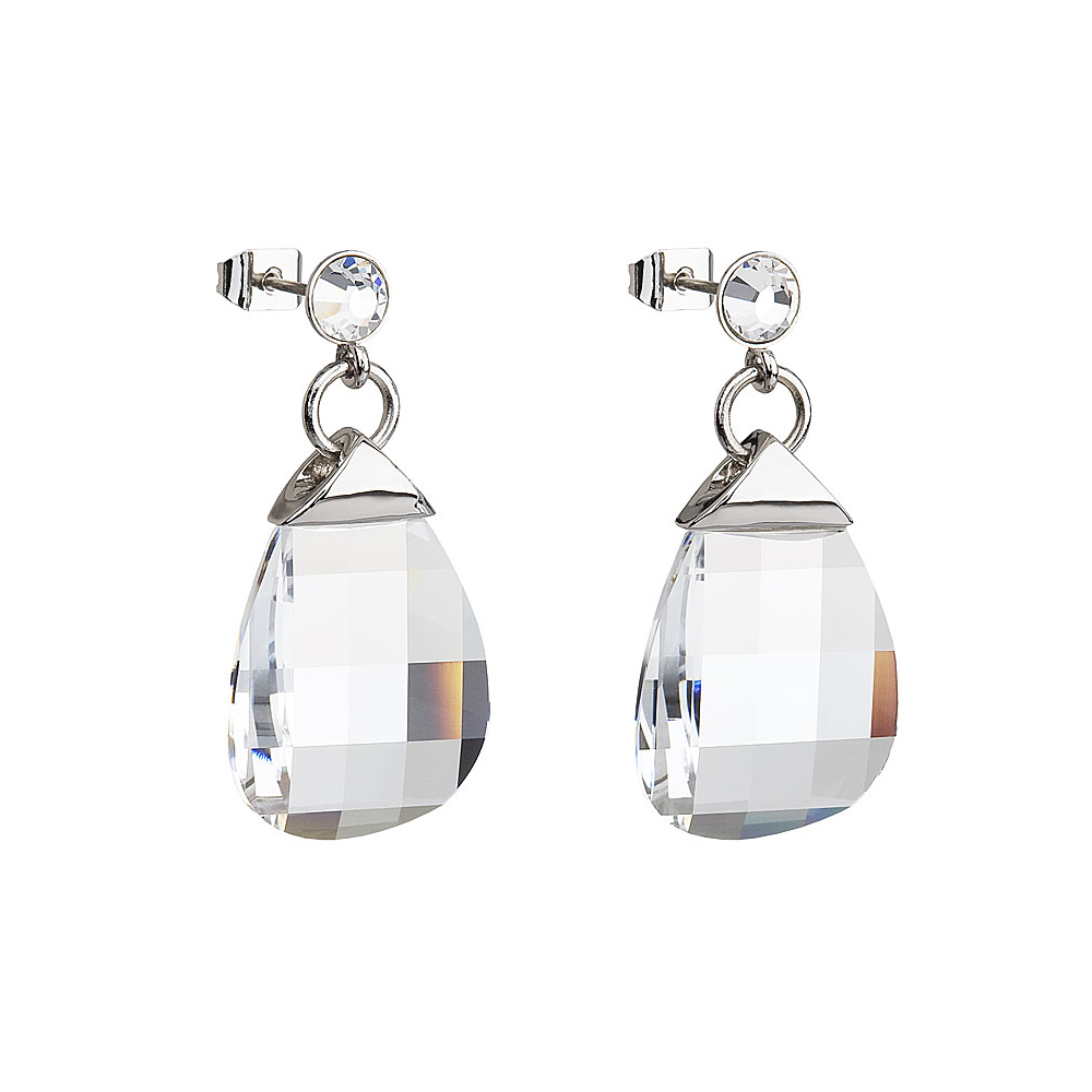Preciosa Crystal Clear Drop Earrings - Kate
