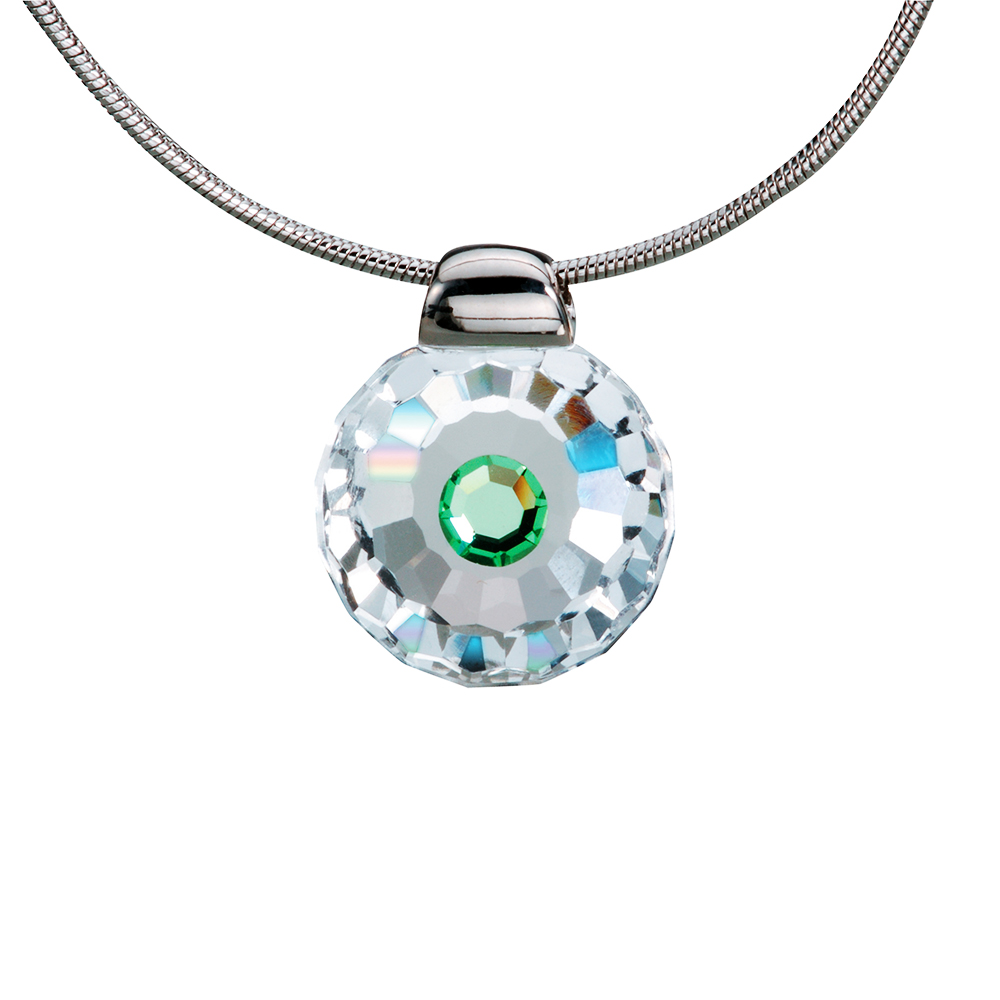 Preciosa Crystal Peridot Solitaire Pendant - Betty