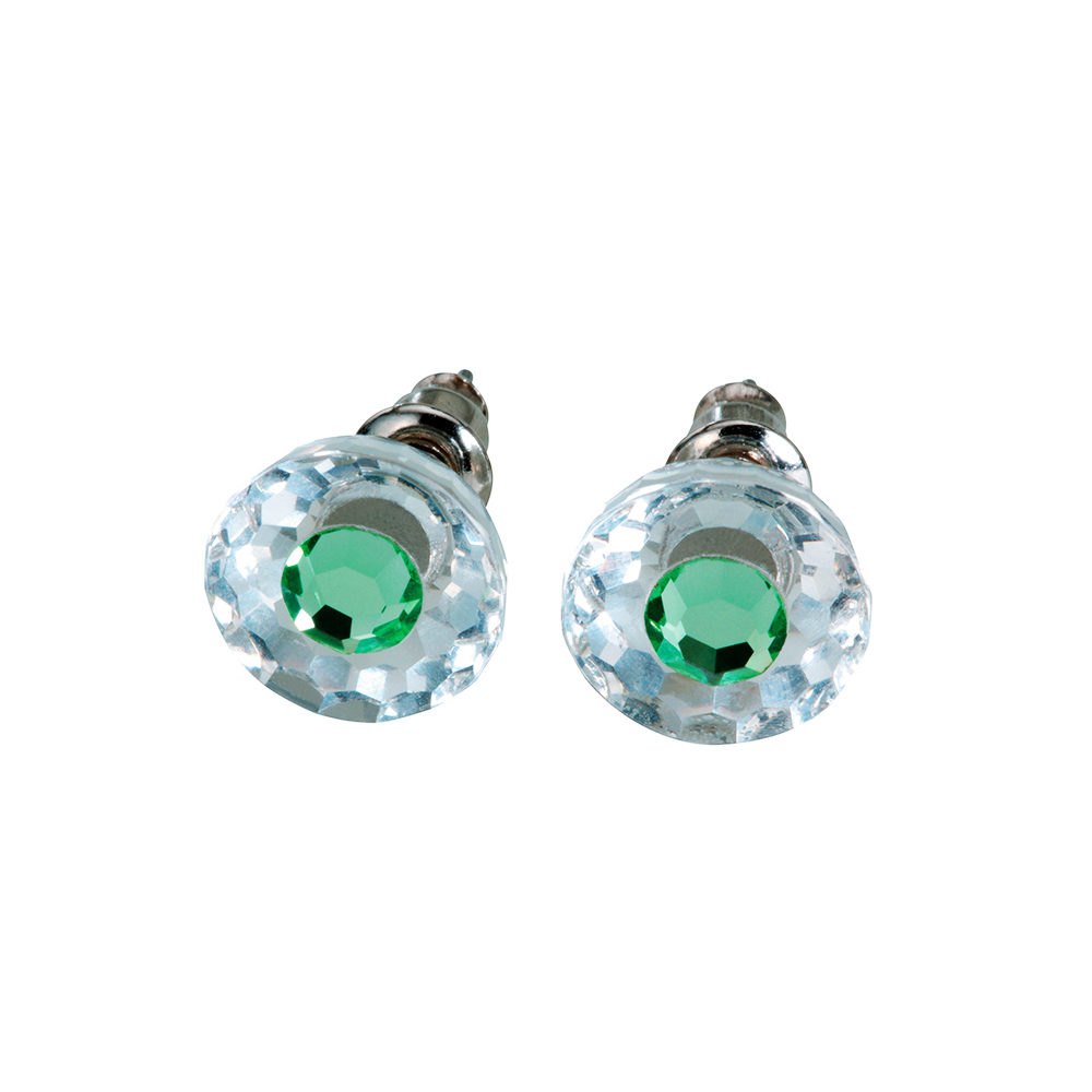 Preciosa Crystal Peridot Stud Earrings - Bettina