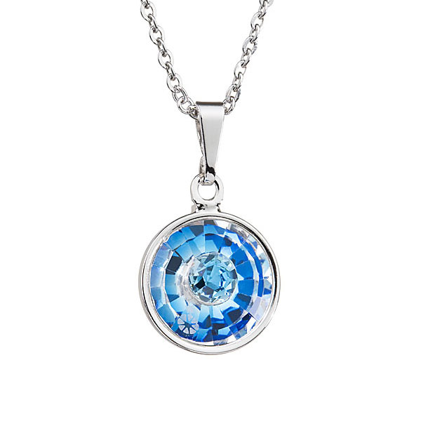 Preciosa Capri Blue Crystal Pendant Solitaire - Livia