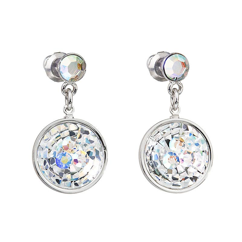 Preciosa Hanging Crystal Aurora Borealis Earrings - Livia