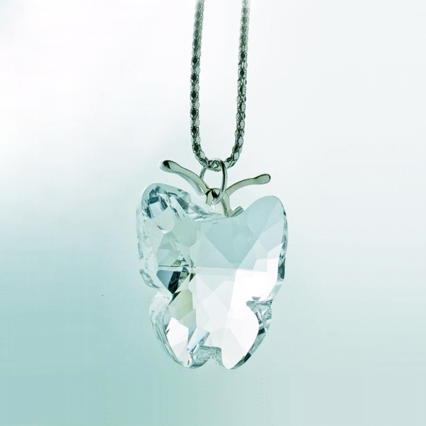 Preciosa Crystal Clear King Butterfly Pendant