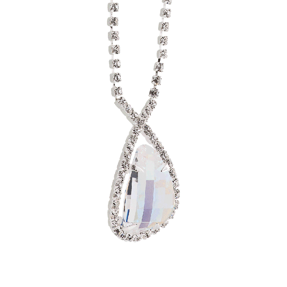 Preciosa Crystal Aurora Borealis Everlasting Love Necklace