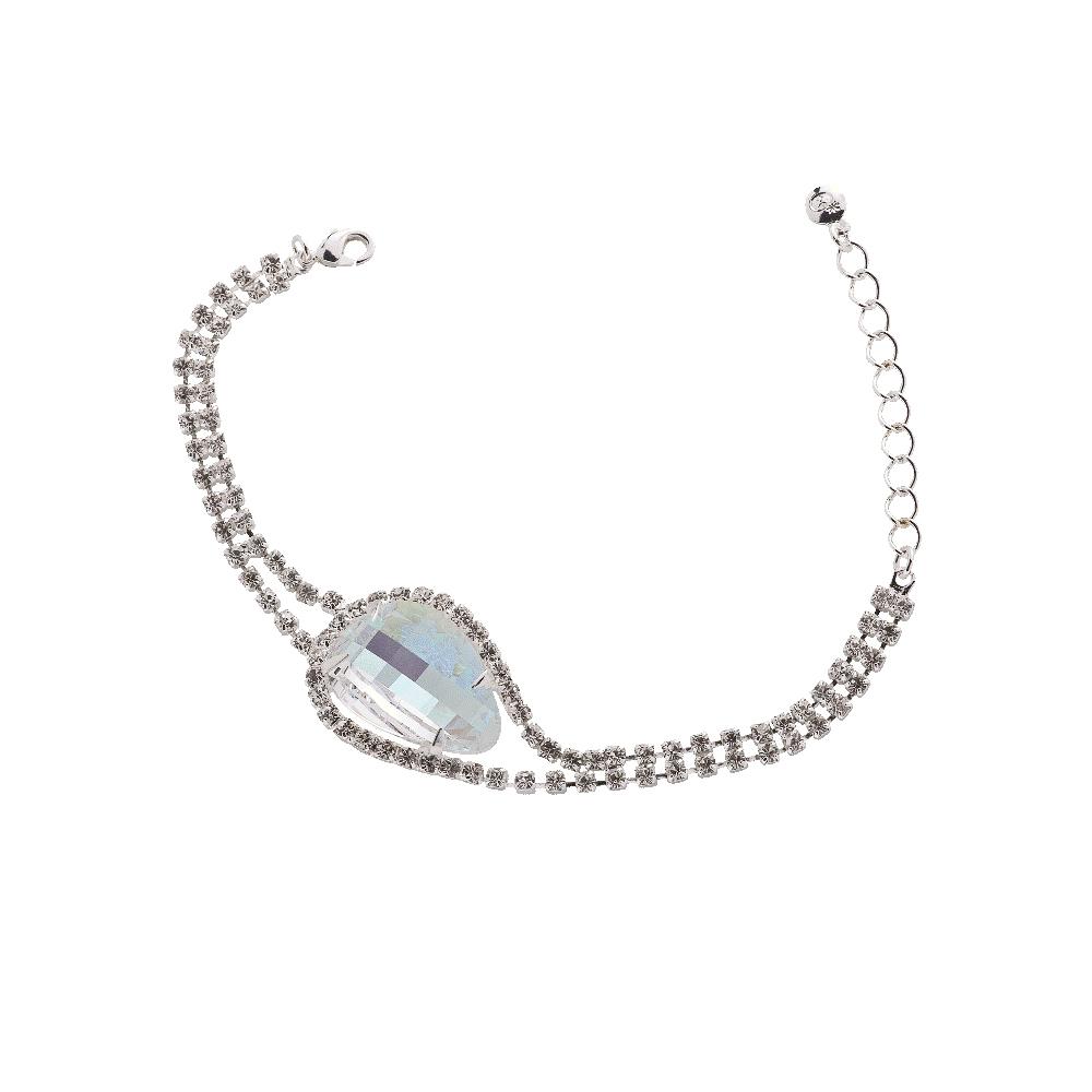 Peciosa Crystal Aurora Borealis Everlasting Love Bracelet