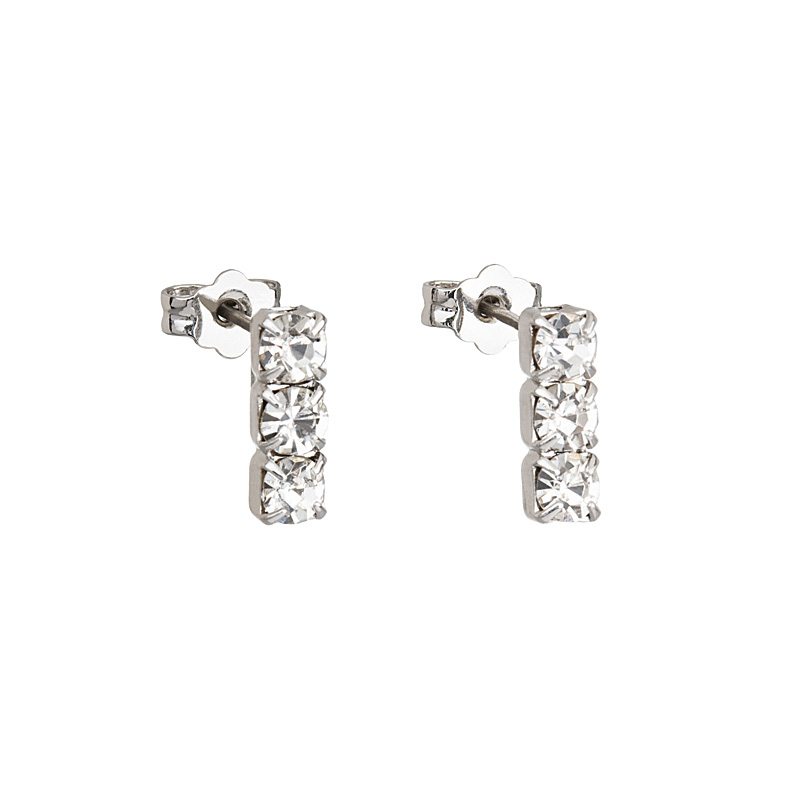 Preciosa Crystal Pierced Earrings - Larvik