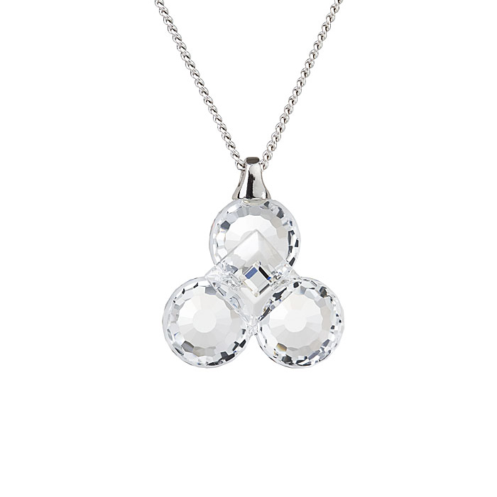 Preciosa Crystal Clear Clover Pendant - Jenny