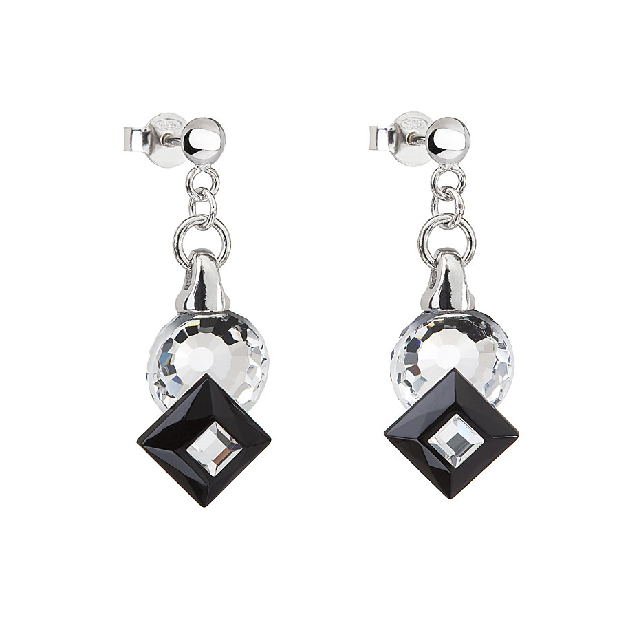 Preciosa Crystal Jet Black Earrings - Jenny