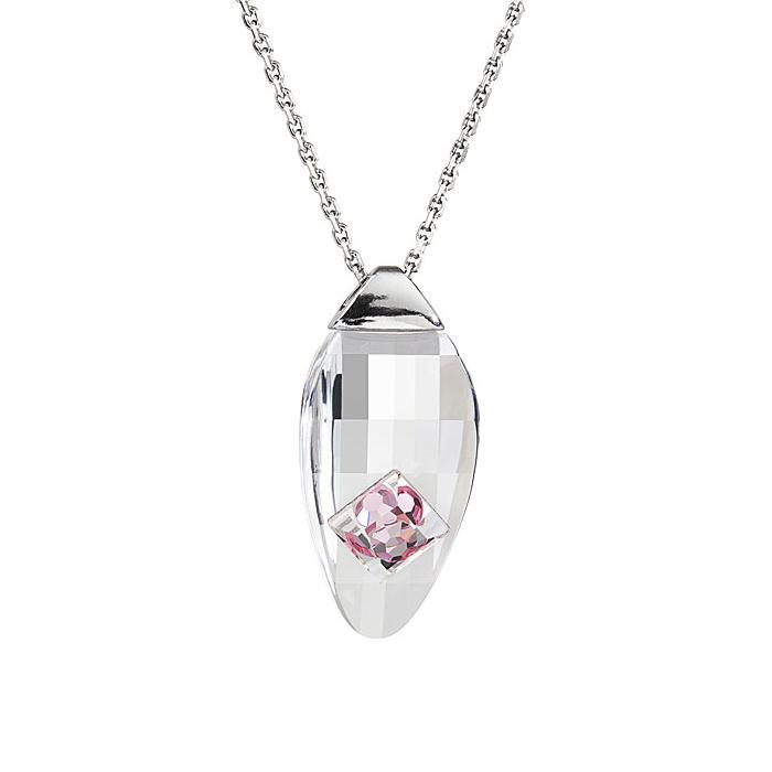 Preciosa Crystal Rosa Oval Pendant - Linda