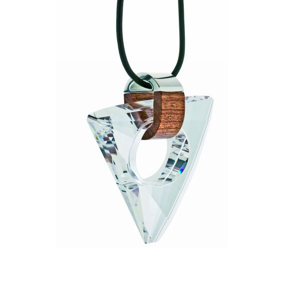 Preciosa Magic Triangle Clear Crystal Pendant Necklace