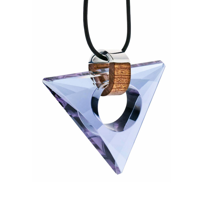 Preciosa Magic Triangle Crystal Pendant Necklace, Alexantrit