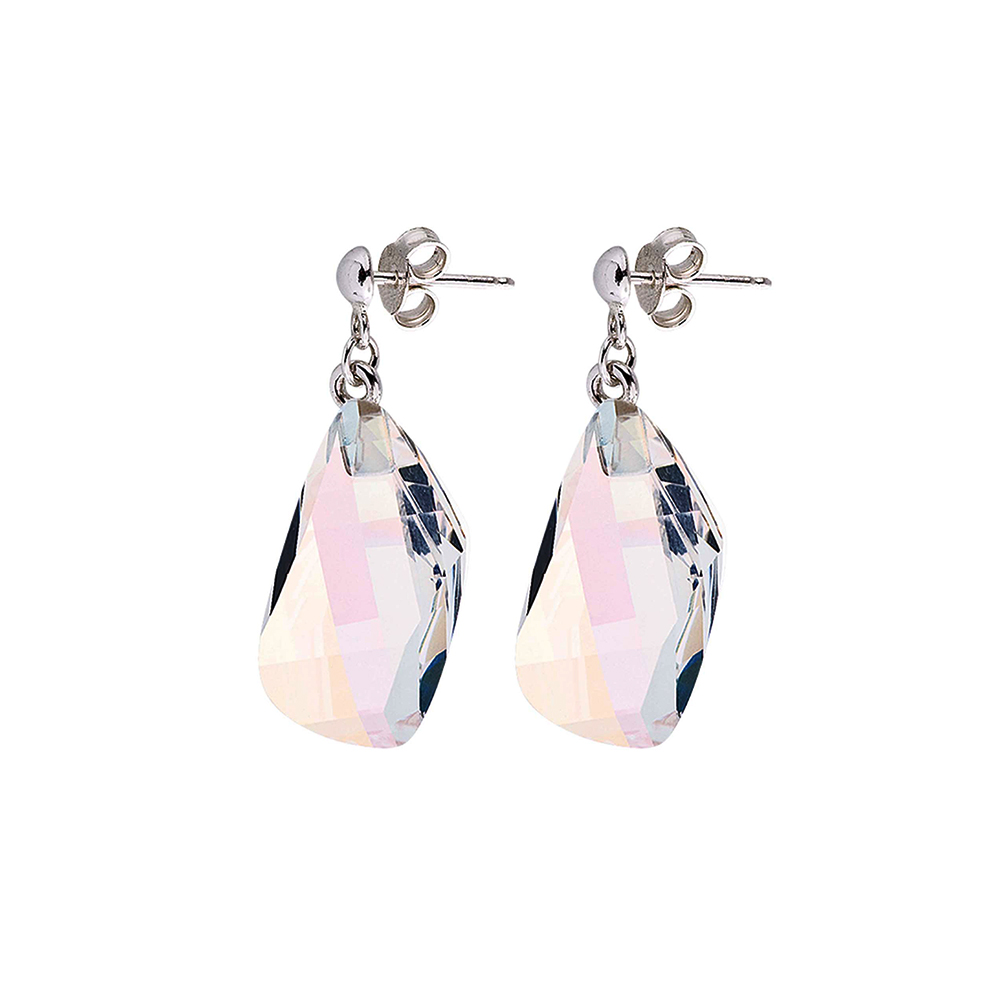 Preciosa Crystal Aurora Borealis Rock Earrings, Perfect Harmony