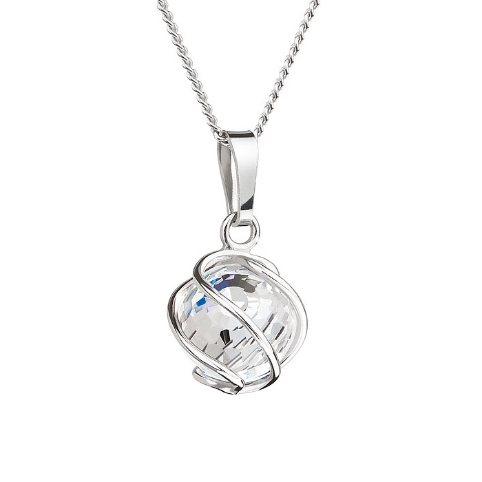 Preciosa Aurora Borealis Crystal Romantic Bead Pendant Necklace