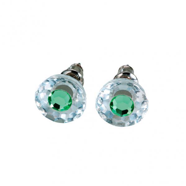 Preciosa Crystal Peridot Stud Earrings - Bettina