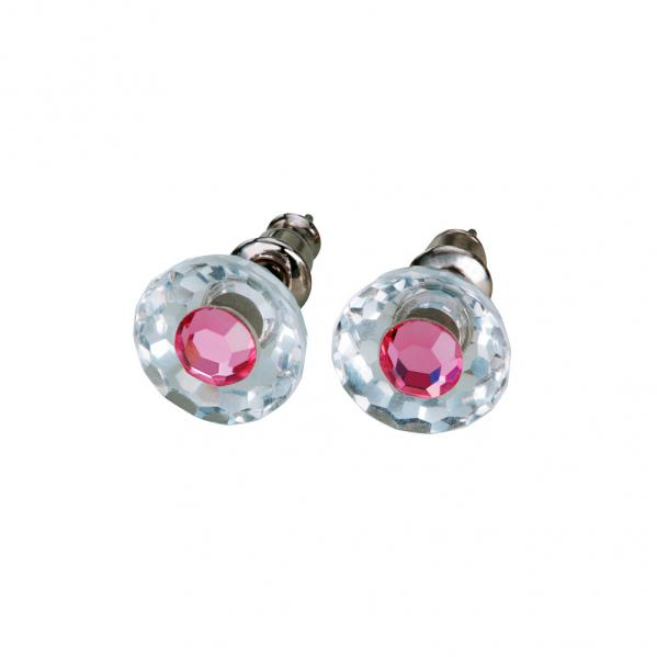 Preciosa Crystal Rosa Stud Earrings - Bettina