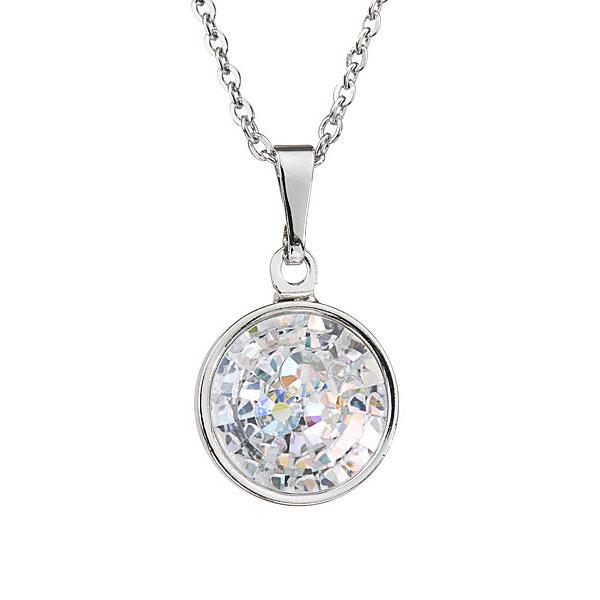 Preciosa Crystal Aurora Borealis Pendant Solitaire - Livia