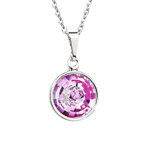 Preciosa Crystal Rosa Pendant Solitaire - Livia