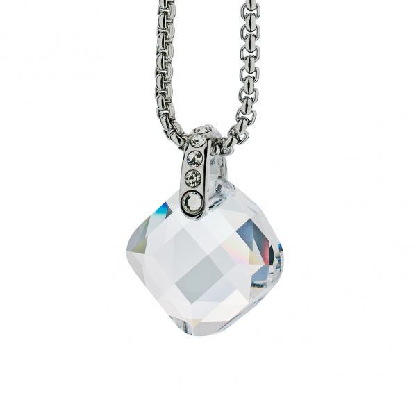 Preciosa Crystal Clear Cube Pendant - Danielle