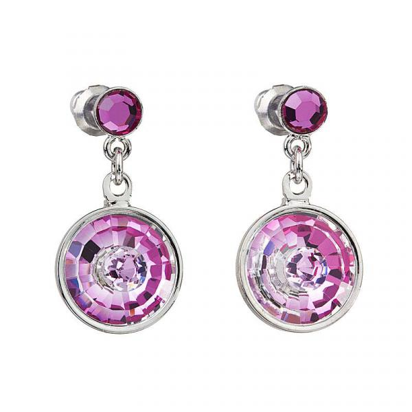 Preciosa Hanging Crystal Rosa Earrings - Livia