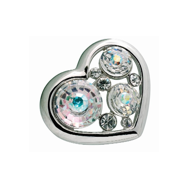 Preciosa Crystal Aurora Borealis Heart Brooch - Lucie