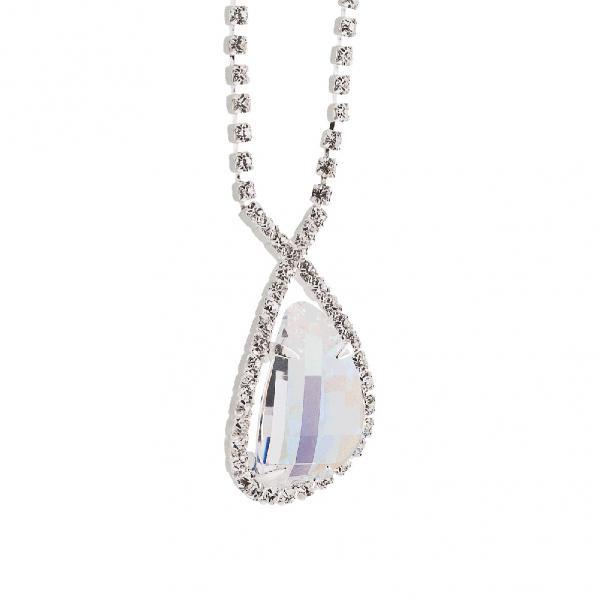 Preciosa Crystal Aurora Borealis Everlasting Love Necklace