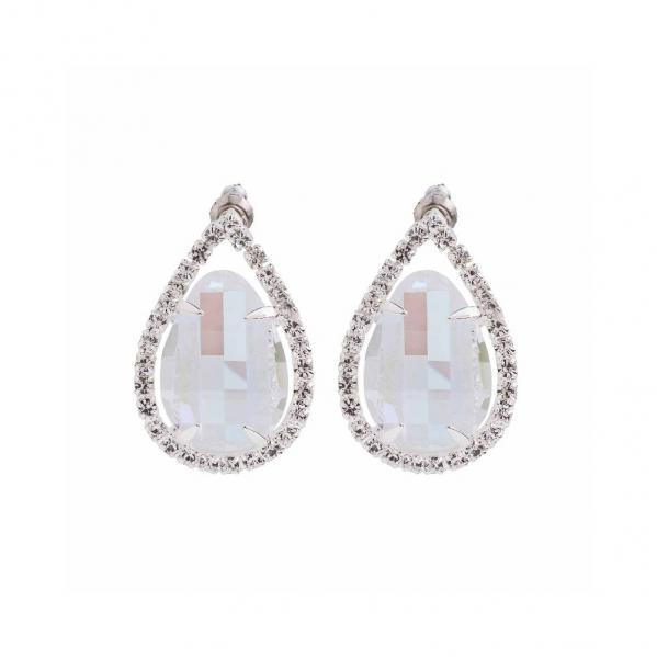 Preciosa Crystal Aurora Borealis Everlasting Love Earrings