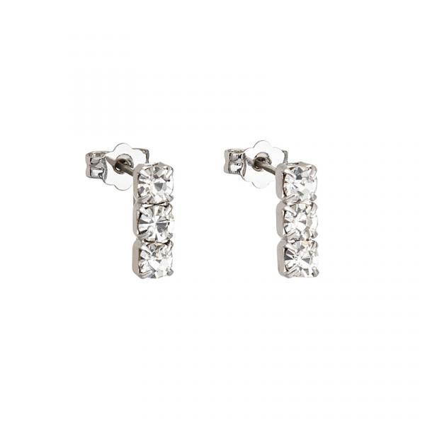 Preciosa Crystal Pierced Earrings - Larvik