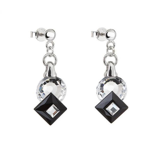 Preciosa Crystal Jet Black Earrings - Jenny